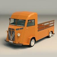 3D pickup van