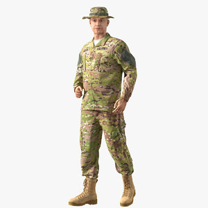 3D army soldier camouflage uniform