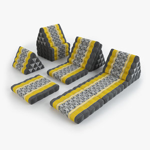 3D thai mattress set yellow