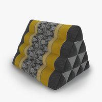 3D thai mattress triangle cushion model