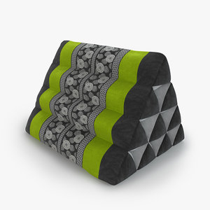 3D thai mattress triangle cushion model