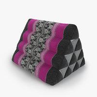 thai mattress triangle cushion 3D model