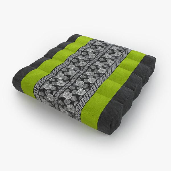 thai mattress pillow green 3D model