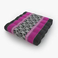 3D thai mattress pillow pink