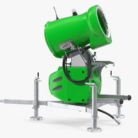 3D model snow gun generic rigged