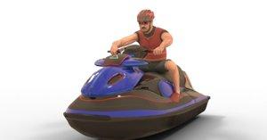 3D jetsky driver