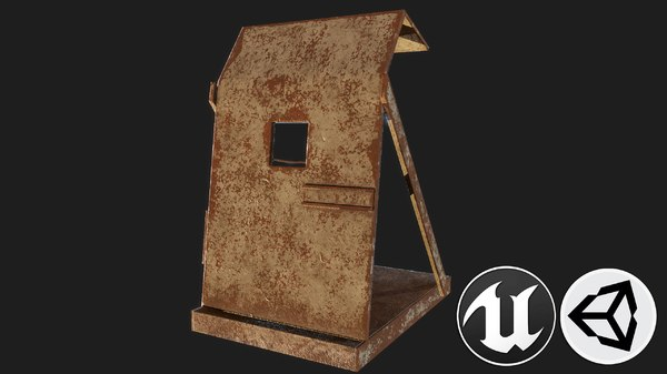 3D metal stand model