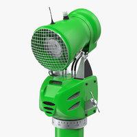 3D model green snow gun