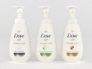 3D dove shower foam