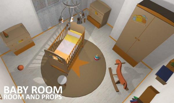 vr baby room 3D