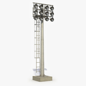 stadium lights 3D model