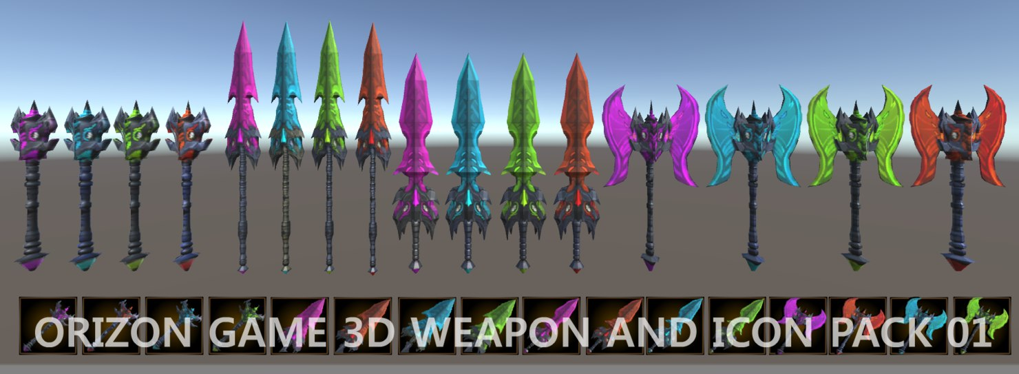 Unity fantasy weapons 3D model - TurboSquid 1415578