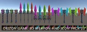 unity fantasy weapons 3D model