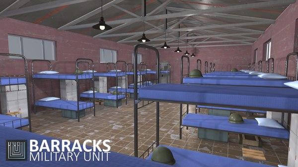 games barracks - military model