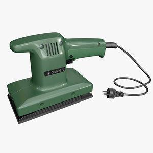 3D electric sander model