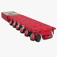 3D self-propelled modular transporter mammoet model
