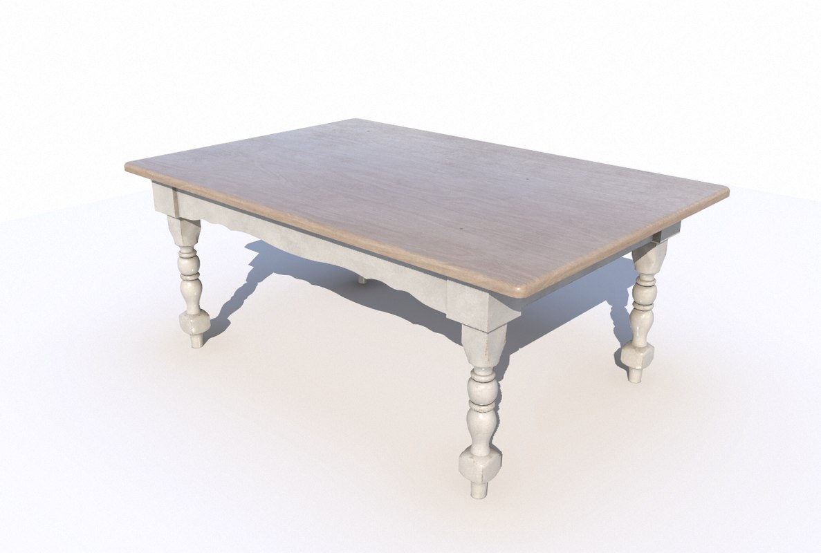 3D model dining wooden table