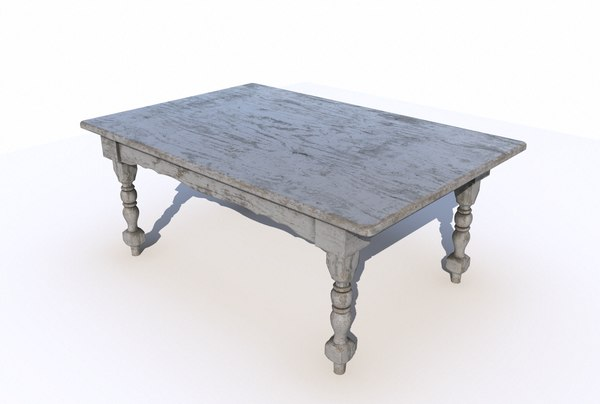 dining wooden table 3 3D model