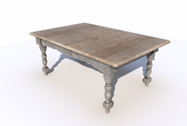 dining wooden table 3D