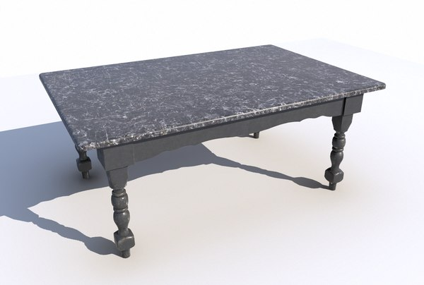 3D dining table marble