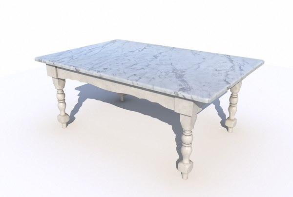 dining table marble 3D model