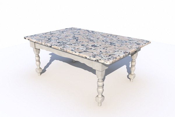 dining table marble 3D