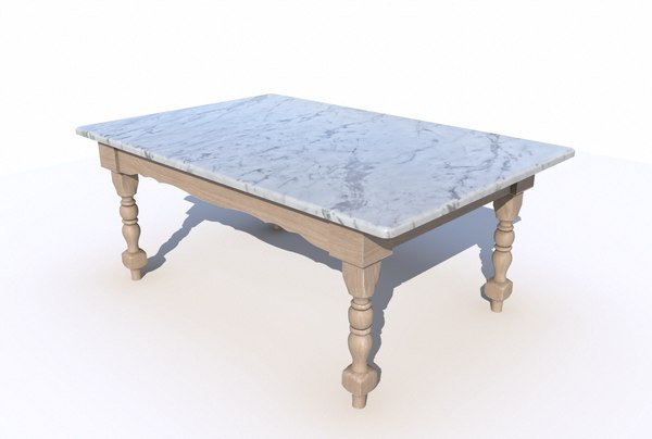 3D dining table marble model
