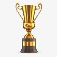 gold trophy 4 3D model