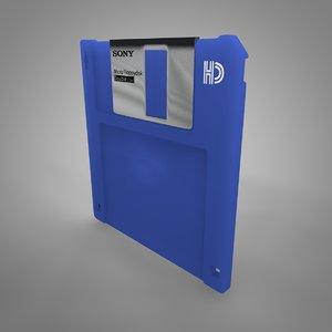 3D model sony floppy disk l156