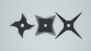 ninja throwing stars shurikens 3D model