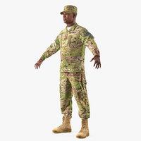 3D army soldier camo uniform