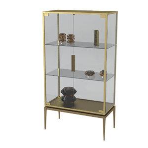 glass showcase model