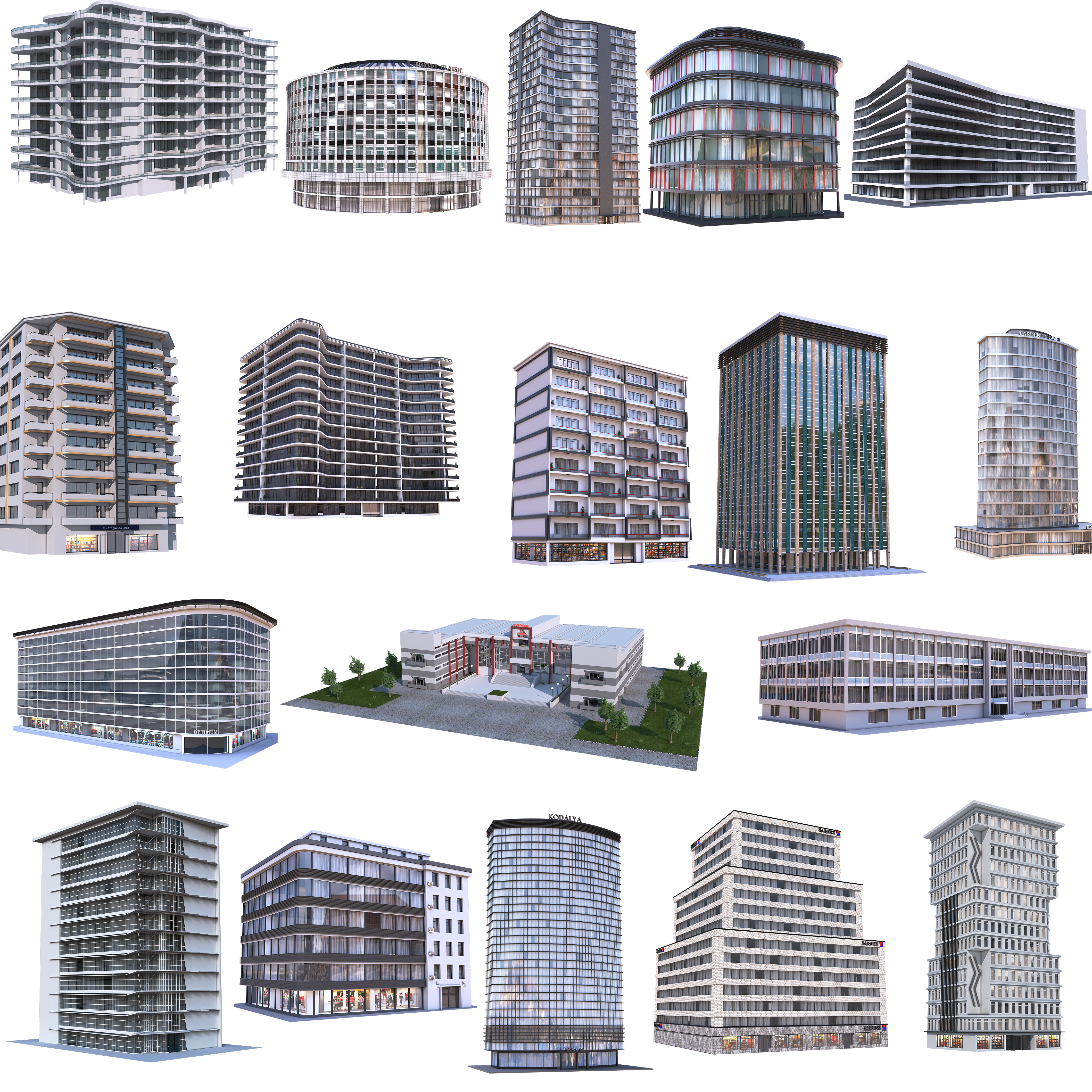 Modern Apartment Buildings Collection