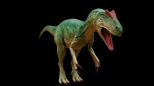 high-poly allosaurus 3D model