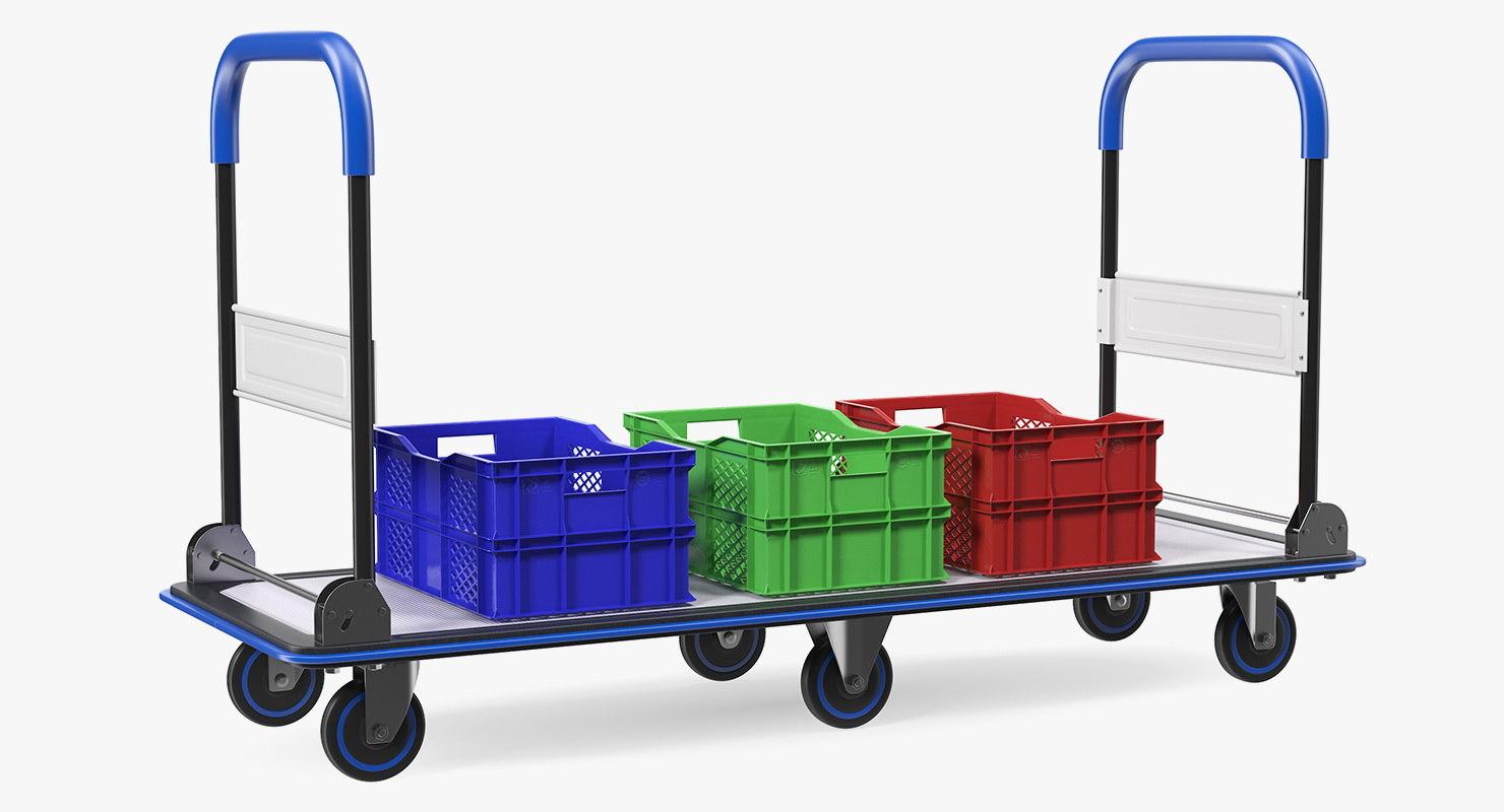 3D market service cart crates