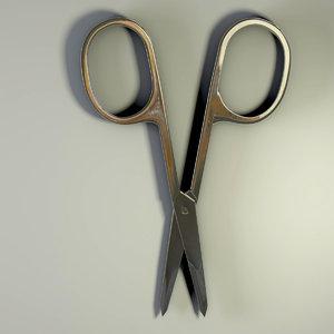 3D model scissors rigged