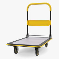 Folding Handle Trolley 3D Model