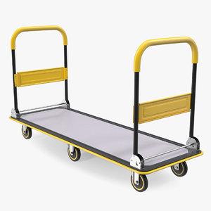 3D platform hand truck trolley model