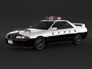 car nissan skyline r32 3D model