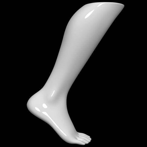 mannequin foot man 3D model