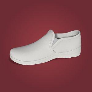 3D nurse shoes uniform model