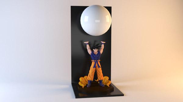 son goku lamp 3D