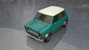 3D mini austin morris coupe