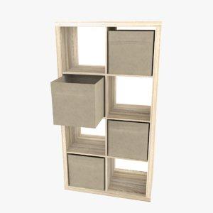 3D 2x4 bookshelf storage boxes