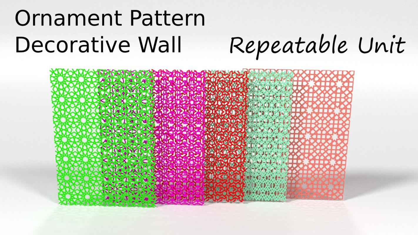 ornament pattern 3D model