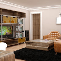 3D living room interior