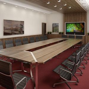 meeting room interior 3D model