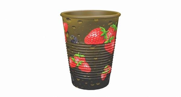 3D plastic cup model