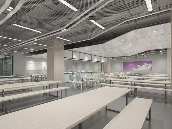 3D model canteen 2