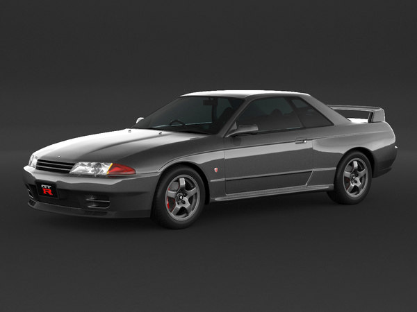 car nissan skyline r32 3d model